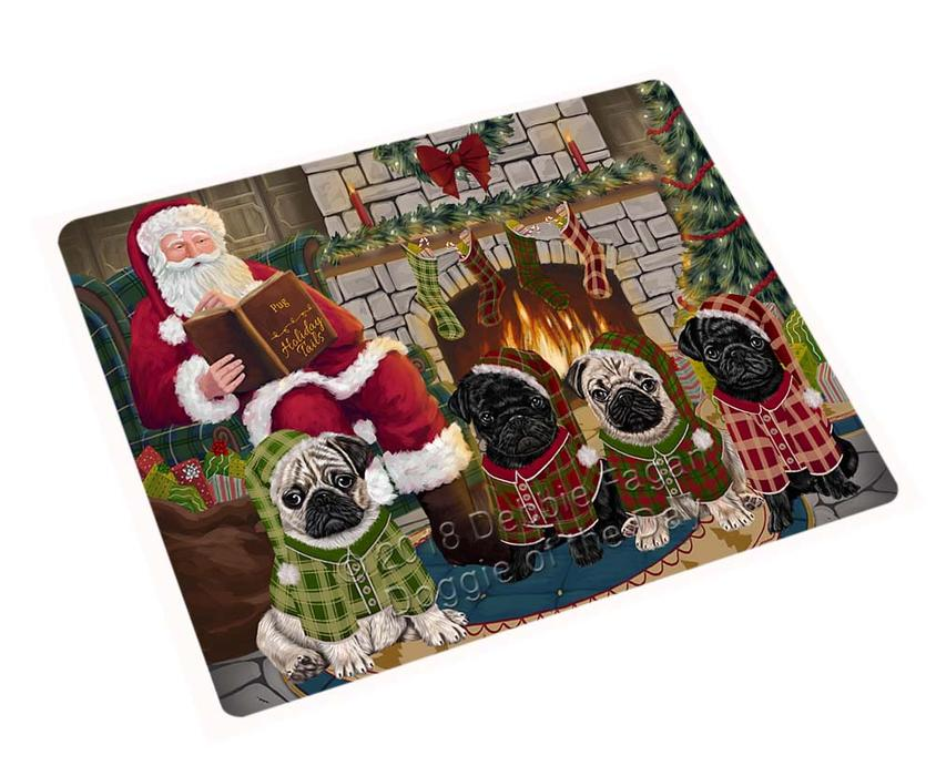 Christmas Cozy Holiday Tails Pugs Dog Blanket BLNKT117822