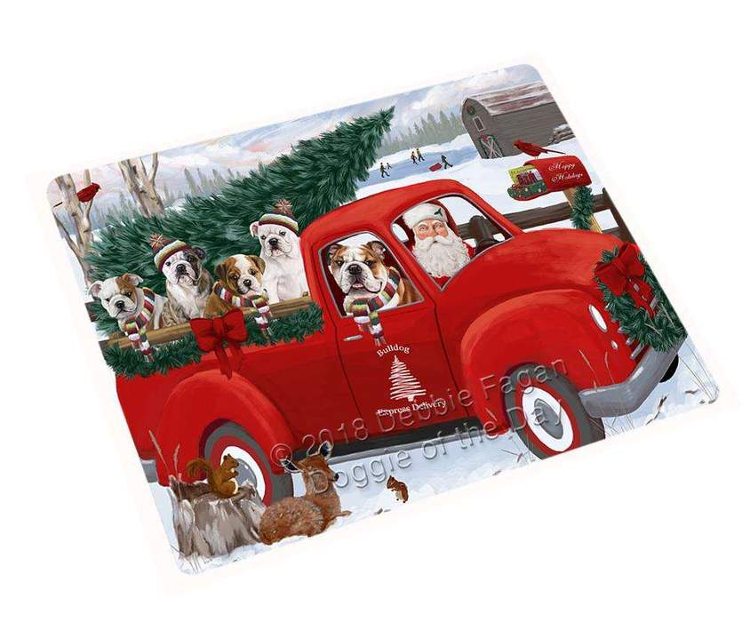 Christmas Santa Express Delivery Bulldogs Family Blanket BLNKT112566