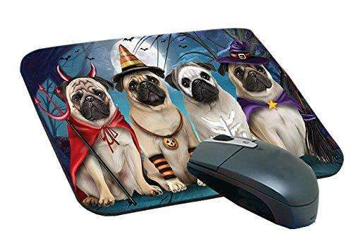 Happy Halloween Trick or Treat Pug Dog Mousepad