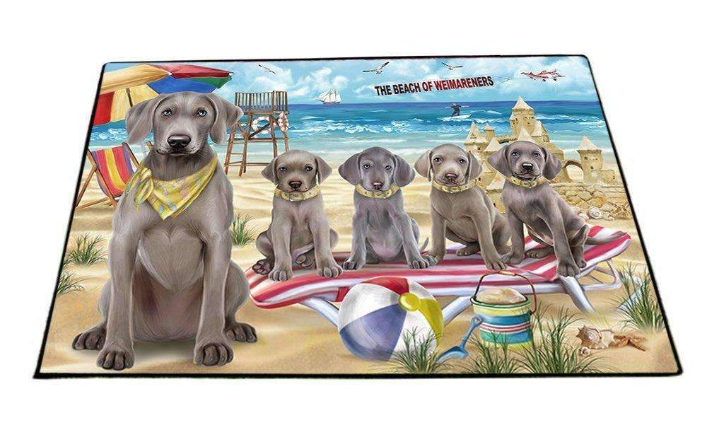 Pet Friendly Beach Weimaraners Dog Floormat FLMS49296