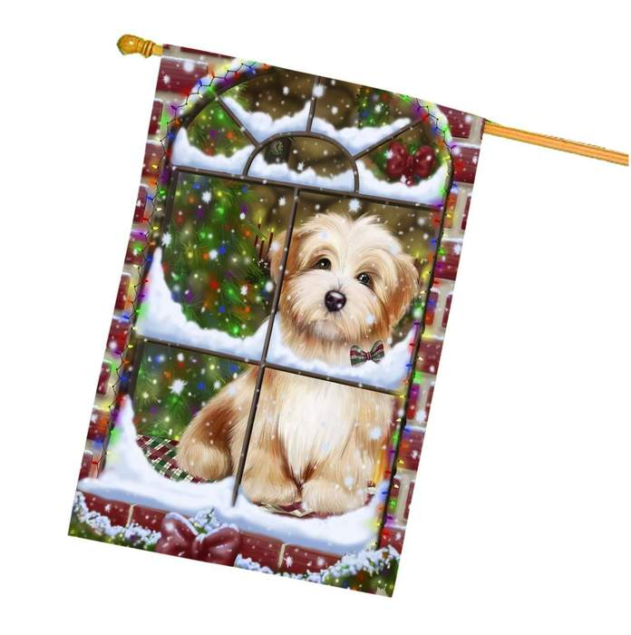 Please Come Home Christmas Holidays Havanese Dog House Flag FLG094